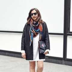 Lucky Magazine Accessories Director Julia Kalachnikoff Gave Us A Lesson In Chic Scarves