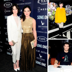 Anne Hathaway Attends Premiere Of Her New Film 'Song One' In NYC