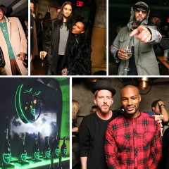 Carmelo Anthony, Jenna Lyons & Glow In The Dark Dom At The Lights Out NBA All-Star After Party