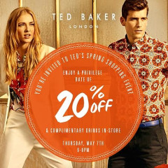 You're Invited: Celebrate Spring With Ted Baker From Coast-to-Coast