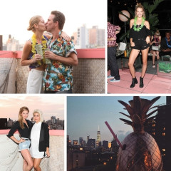 Zach Braff, Ben Watts & The ONE Models Celebrate Scott Lipps' Birthday At Tiki Tabu
