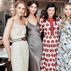Karen Elson & Lily Aldridge Have A Fashion Week Tea With Tabitha Simmons