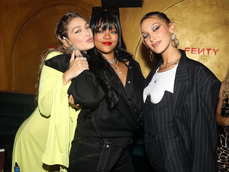 Gigi & Bella Party With Rihanna At Her Fenty Bash In Paris