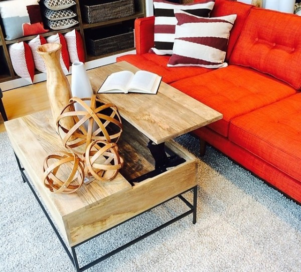 West Elm Rustic Storage Coffee Table