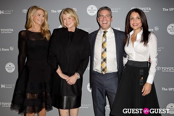 Andy Cohen Martha Stewart Christie Brinkley Bethany Frankel