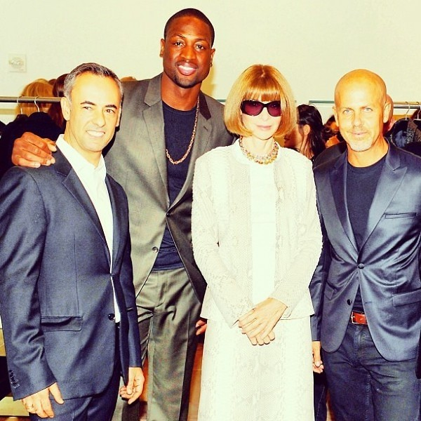 Anna Wintour Francisco Costa Dwyane Wade