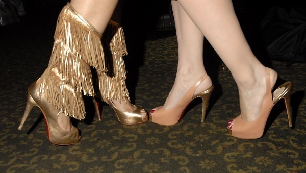 Michelle Pirret Knee Ray Chin Louboutins
