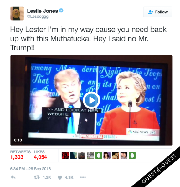 Hilary Clinton Leslie Jones Donald Trump