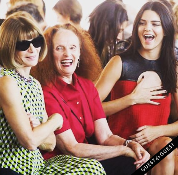 Anna Wintour Grace Coddington Kendall Jenner